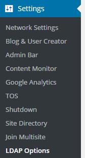 LDAP options